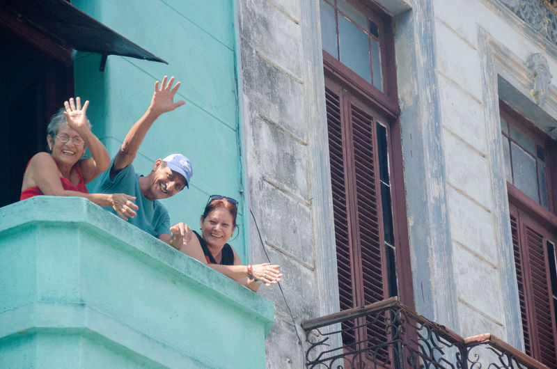 Architecture Arms Raised Building Exterior Enjoyment Hangingout In Balcony Hello From Cuba Hello From People Of Havana, Hnagingout In Patio Outdoors People Of Havana People Of Havana, Togetherness Investing In Quality Of Life