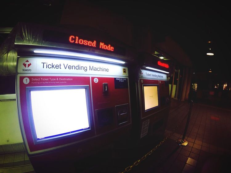 Amateurphotography Eyeem Philippines Train Station Mrt Mrt Station TicketBooth Closedforbusiness Night Manila