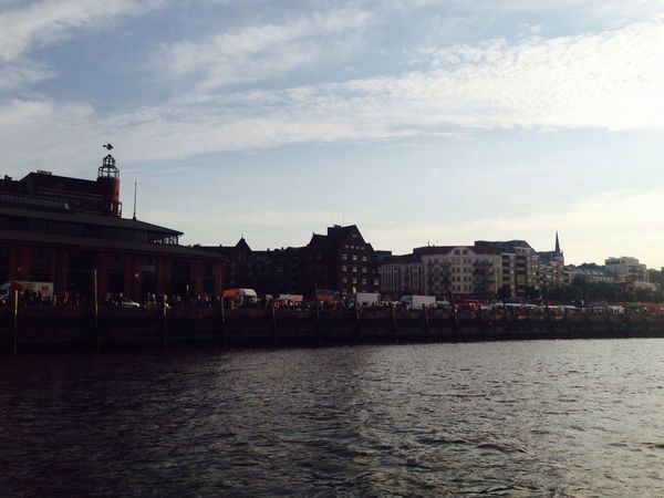 Hamburg's famous Fish Market – view from the Ferry