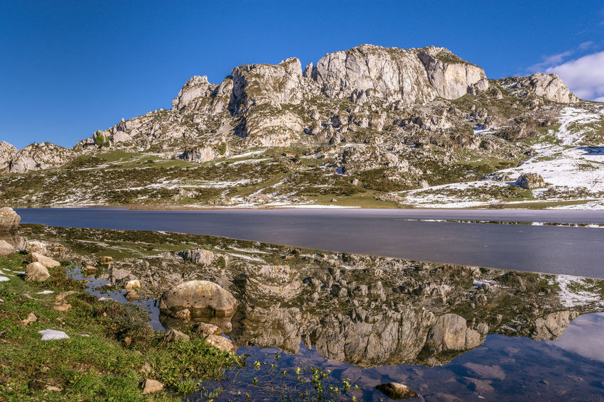 Ercina Lake Picosdaeuropa Nature Landscape Day Outdoors SPAIN Lake No People Scenics Water Mountain Reflections In The Water