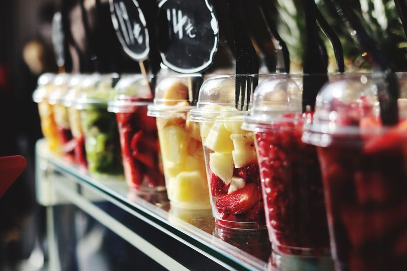 Food And Drink Freshness Food Glass - Material Healthy Eating Container Transparent Indoors  Jar Still Life Wellbeing Close-up Fruit Strawberry Retail  Berry Fruit No People Choice For Sale Sweet Food