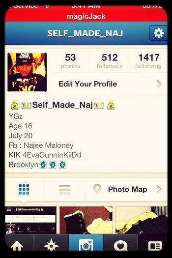 Follow Me On Instagram @Self_Made_Naj