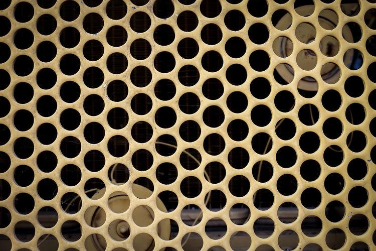 Full frame shot of grille