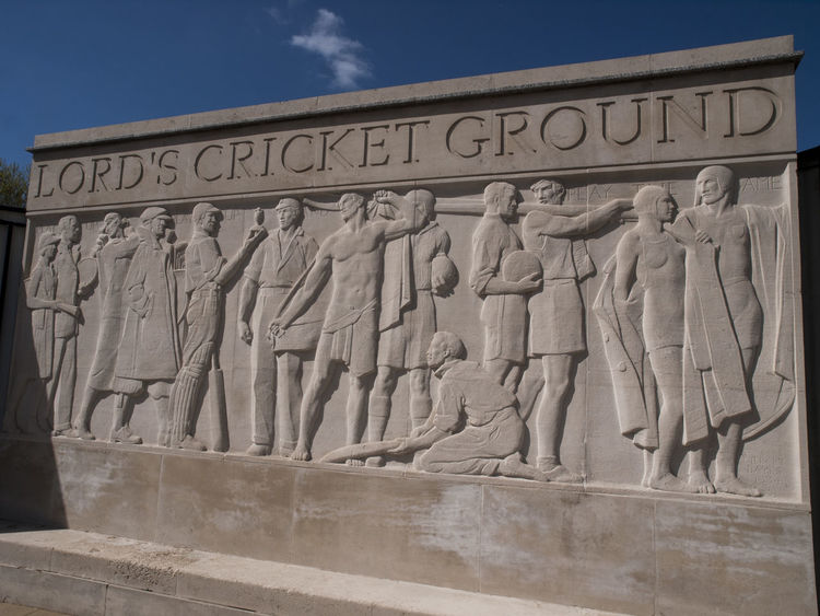 Lords Cricket Ground London. Ancient Ancient Civilization Archaeology Architecture Bas Relief Built Structure Business Finance And Industry Cricket Cricket Ground Day History Lords Mcc  Monument No People Outdoors Sky The Past Tourism Travel Travel Destinations Vivid International