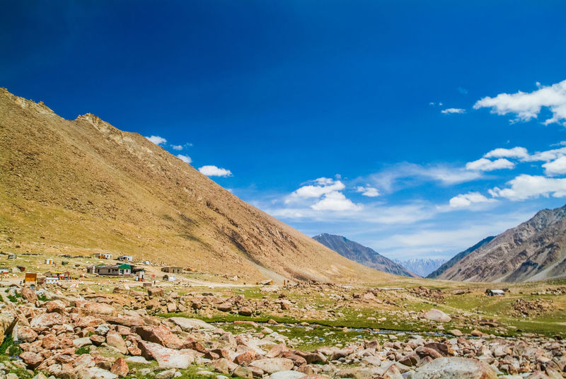 Landscap on the way to Pangong Lake Blue Cloud Cloud - Sky India Jammu And Kashmir Ladakh Landscape Leh Mountain Mountain Range Nature Nature Sky Travel