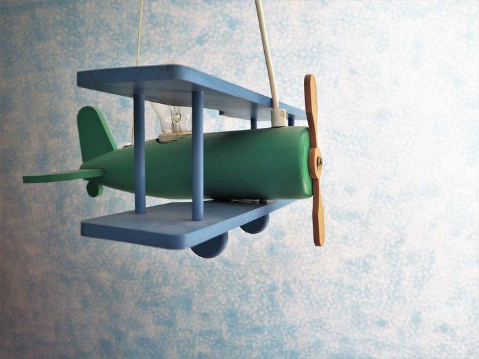 Home Nursery Plane Blue Childhood Hanging Indoors  Toy