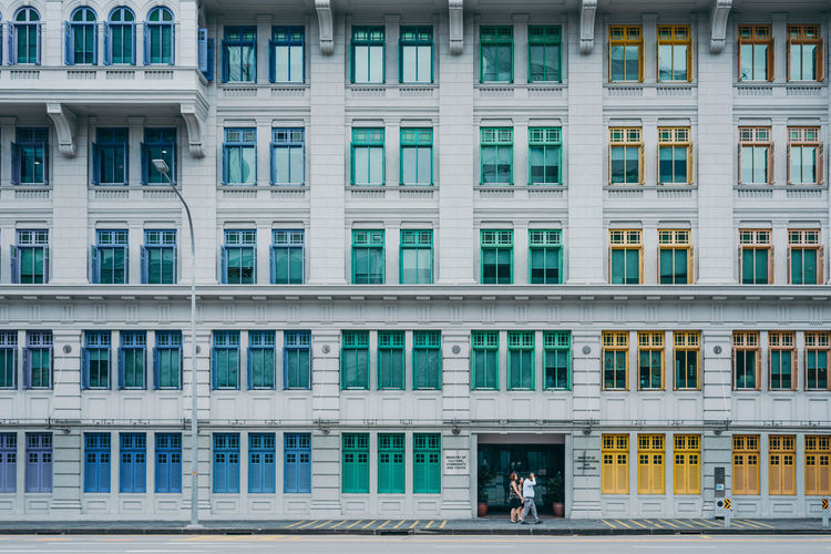 colourful windows of MCI building, Singapore. Architecture Colours Exterior Singapore The Architect - 2018 EyeEm Awards Architecture Architecture Details Building Building Detail Building Exterior Built Structure City Colorful Colourful Buildings Office Building Exterior Singapore City Window Windows