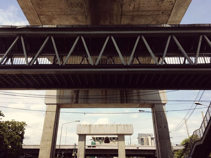 Architecture Built Structure Bridge - Man Made Structure Connection Low Angle View Outdoors Building Exterior Day Sky No People Bridge Bangkok Thailand Bangkok