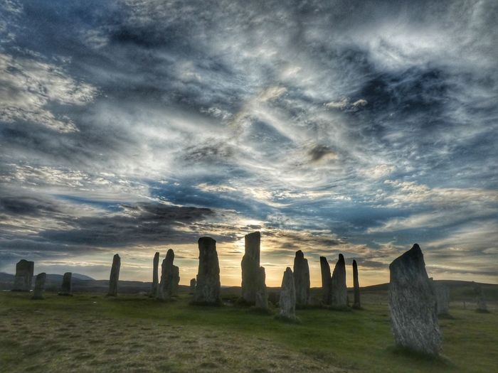Sunset over Callanish Scotland Sunset #sun #clouds #skylovers #sky #nature #beautifulinnature #naturalbeauty #photography #landscape Isle Of Lewis Outer Hebrides Scotland VisitScotland Callanish Stones History Cloud - Sky Sky Land Nature Environment Water Landscape Scenics - Nature No People Architecture History The Past Beauty In Nature Dramatic Sky Field Outdoors My Best Photo