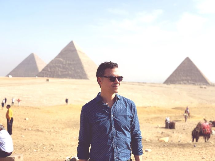 Cairo Egypt Cairo Egypt EyeEm Selects Pyramid Real People History Architecture One Person The Past Travel Destinations Ancient Civilization Archaeology Glasses Lifestyles Men Built Structure