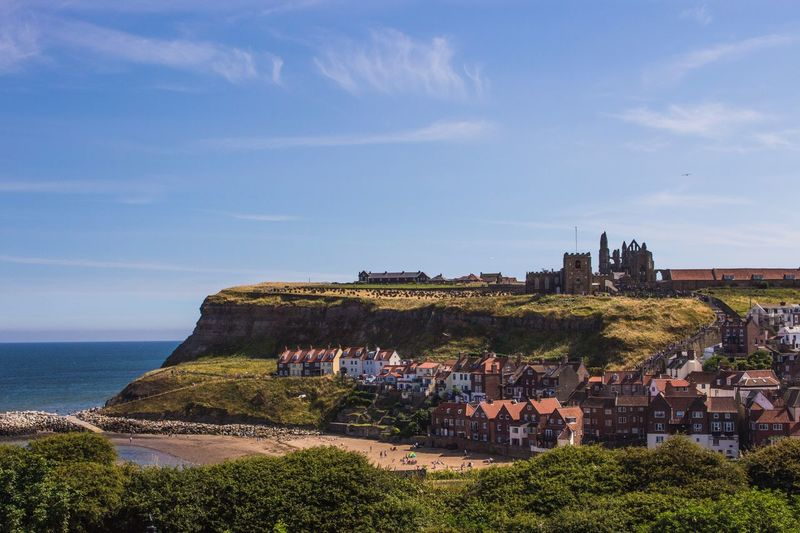 Whitby summer Architecture Sea Sky Day Outdoors Scenics Horizon Over Water Whitby North Yorkshire