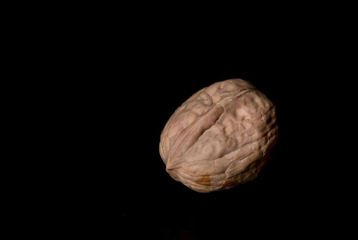 Black Background Brown Close-up Copy Space Cut Out Food Food And Drink Freshness Fruit Healthy Eating Indoors  No People Nut Nut - Food Nutshell Single Object Snack Still Life Studio Shot Walnut Wellbeing