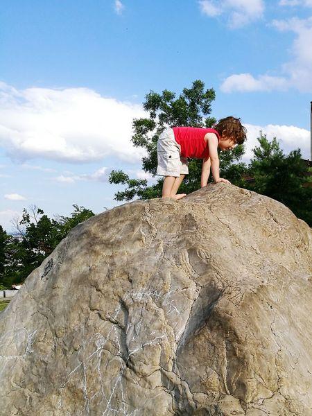 Climbing Children Childhood Rocks Boy Fun Gros Caillou Lyon Croix Rousse Garçon Summer