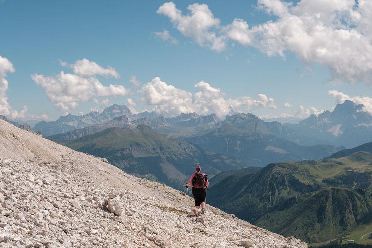 Trekking sass pordoi - alto adige sudtirol - italy