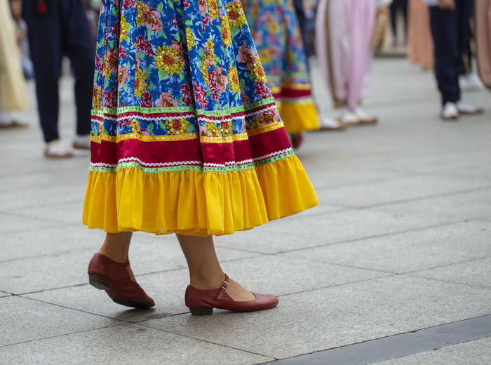 Russian folk dance group Asturias City Low Angle View Music SPAIN Sunny Colorful Dancing Day Festival Folk Folklore Human Body Part Outdoors Real People Russian Skirt Street Summer Traditional Dancing Women