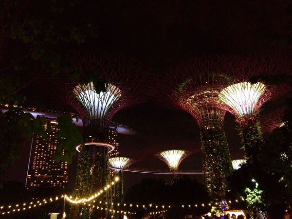 Fantasy World EyeEm Best Shots EyeEm City Sky Built Structure Outdoors Architecture Arch Low Angle View Night Illuminated Iphonegraphy VSCO Nightview Cityscape Lights Lights In The Dark Singapore Glow Fantasy HUAWEI Photo Award: After Dark