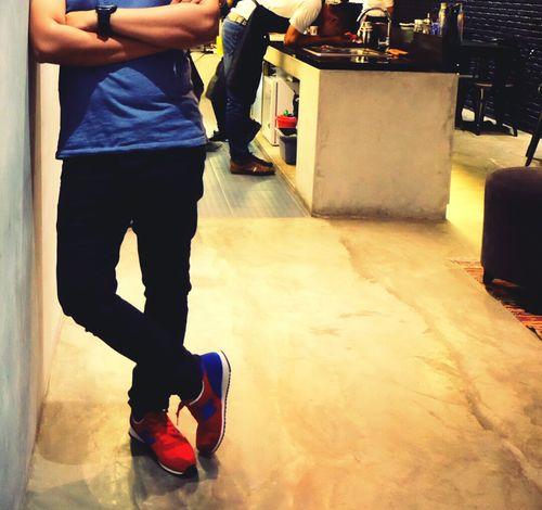 Im with my shoes Newbalance420 NewBalance Shoes Redandblue