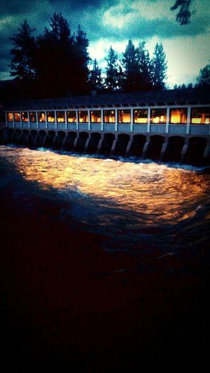 Water on fire. Tahoe Bridgetender Northlake Dam Easteensierras Neon Life Breathing Space Been There.