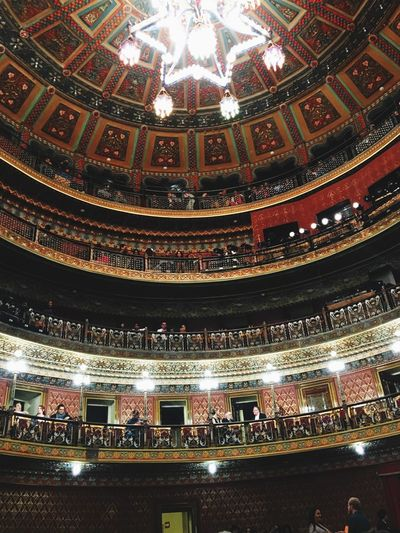 Theater Indoors  Built Structure Low Angle View Illuminated Ceiling Architecture No People Travel Destinations Chandelier Building