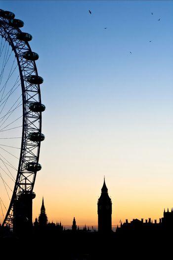 London spectacular in Summer. Sunset