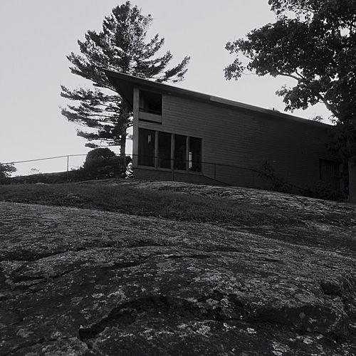 On the top Top House Grey Sky Newyork Mountain Hill Adirondack Mountains Modern House