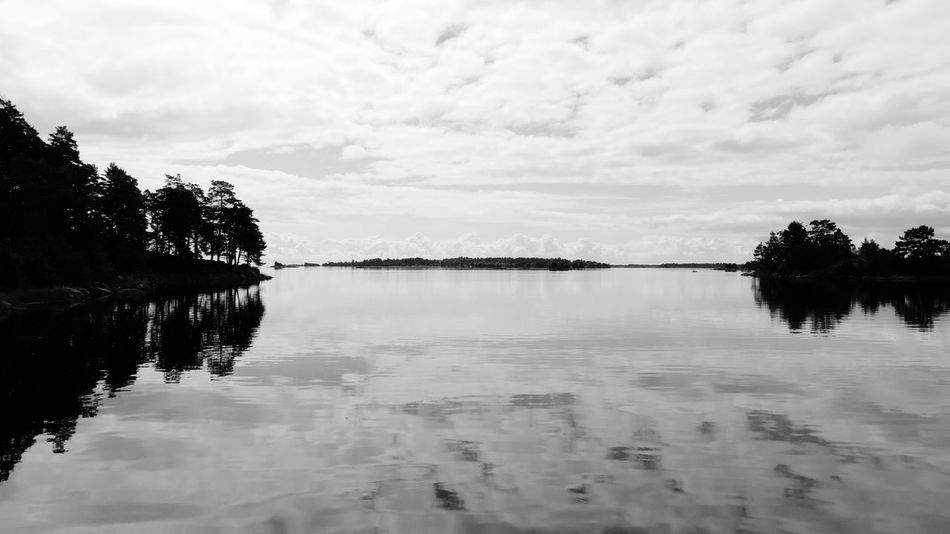 Sverige Skärgård Småland Oskarshamn Baltic Sea Black & White