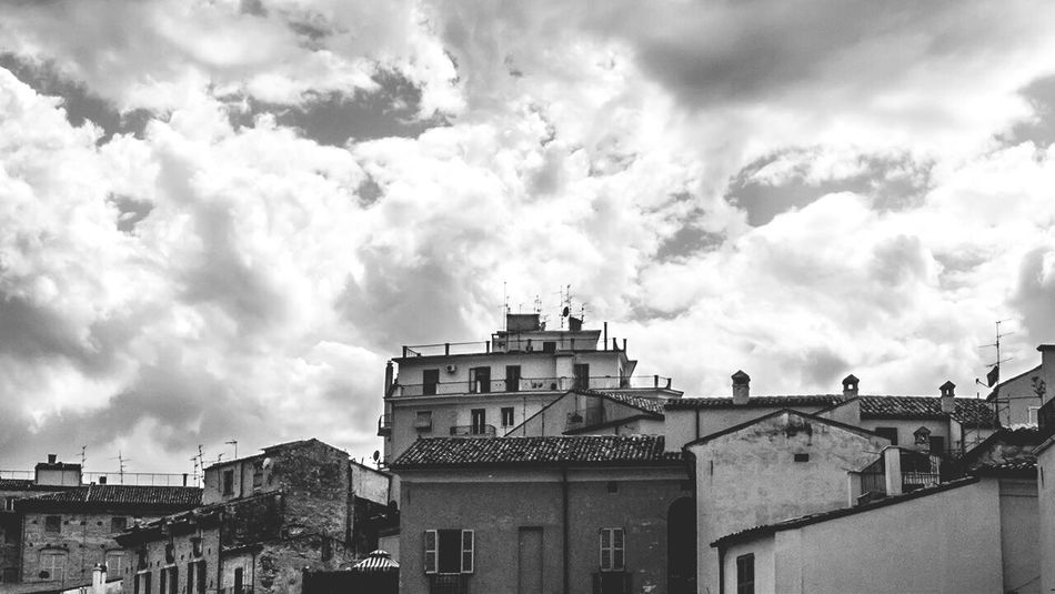 Chieti Italy Clouds Roof Tops