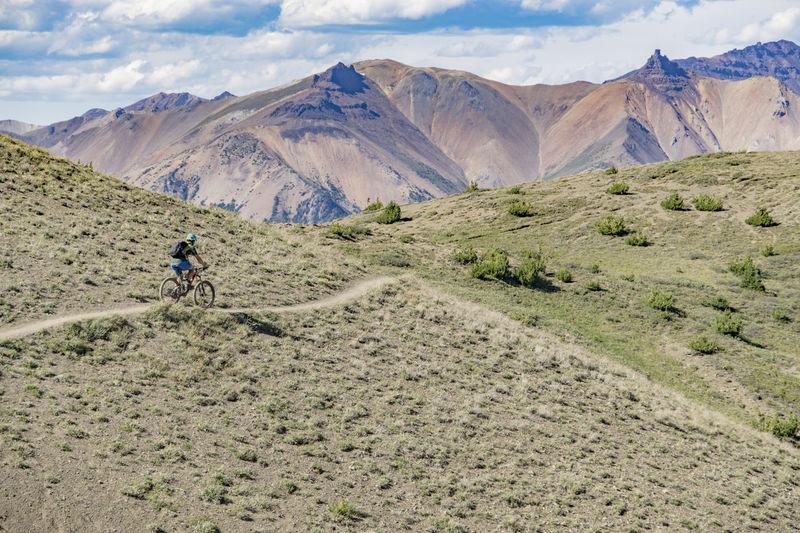 Activity Alpine Arid Bike Biker Biking Dry Expanse Landscape Mountain Mountain Bike Mountain Biking Mountain Range Path Relaxing Remote Ride Rider Riding Rugged Sagebrush Sport Terrain Trail Vast The Great Outdoors - 2017 EyeEm Awards Live For The Story