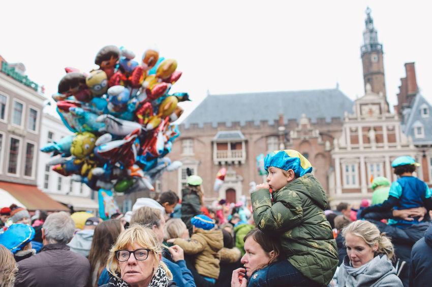 Balloons Children Festival Festival Season Grote Markt Netherlands Portrait Saint Nicholas Sint-Nicolaas Sinterklaas Zwarte Piet