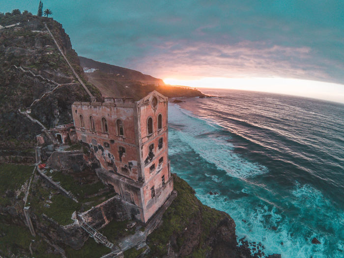 Drone  Drones Architecture Beauty In Nature Building Exterior Built Structure Day Dji Dronephotography Gopro Horizon Over Water Mountain Nature No People Outdoors Scenics Sea Sky Sunlight Sunset Water