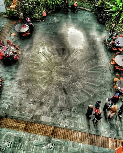 Cafe Floor Looking Down From Above