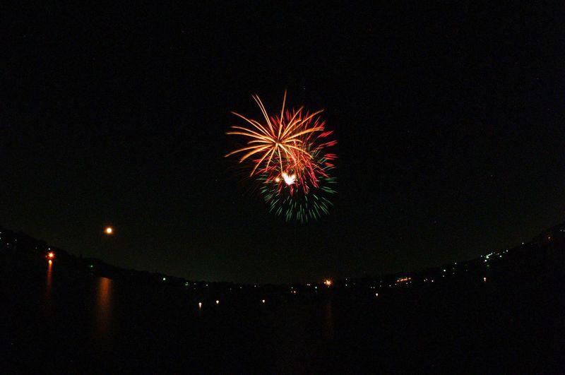 Aug.2015 三好池公園の花火 花火 花火大会 魚眼 レンズ Fisheye Long Exposure Night Lights