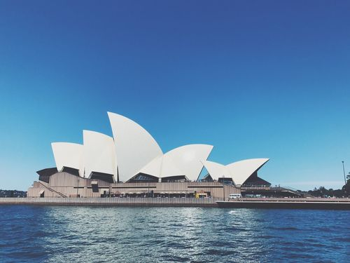 Sydney Opera House Architecture Clear Sky Built Structure Water Building Exterior Blue Travel Destinations Waterfront No People City Outdoors Modern Day Nature Sydney Opera House Sydney, Australia Impressive View