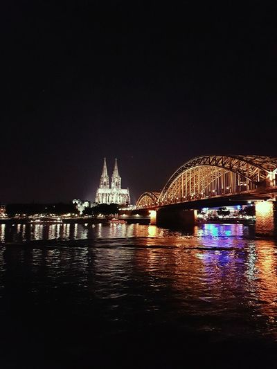 Cologne at night Cologne Köln Hohenzollernbrücke Hohenzollernbridge Dom Colognecathedral Rhine Rhein Relections City Lights Night