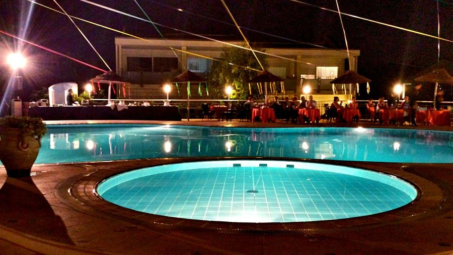 Swimming Pool At Night Pool Party Poolside Dining Ladyphotographerofthemonth Outdoor Decorations Light In The Darkness Darkness And Light Enjoying Life Fun At The Swimmingpool Swimming Pool Gala Night  Hotel Life Night Life Night Sky Night Photography Night Lights Night Creative Light And Shadow