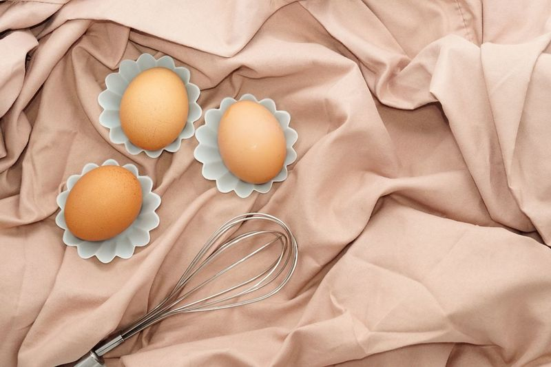 Close-up Egg Food Food And Drink Freshness Hand Whisk Ingredient No People Table Cloths