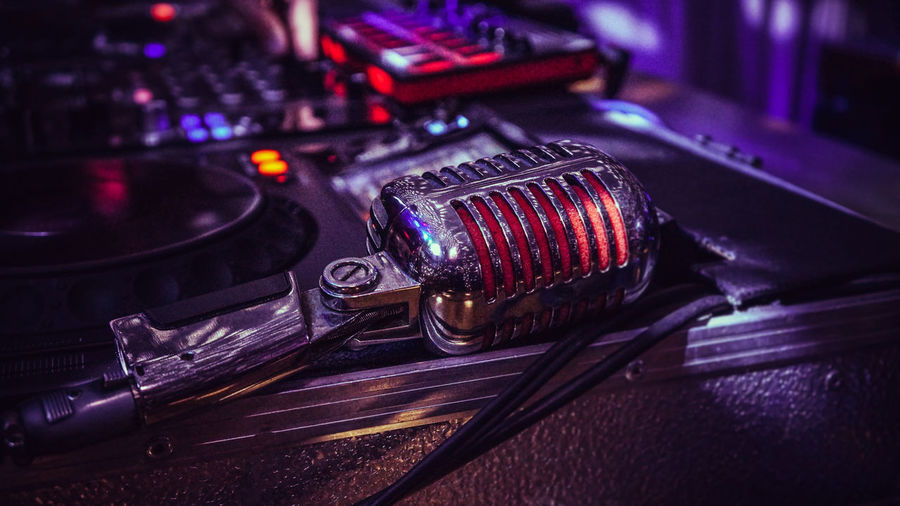 Microphone, dj, party, lights, electronic device