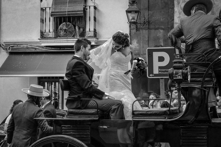 Bride Córdoba Horse And Buggy Ride Newlywed Newlyweds Spain♥ Togetherness Wedding Andalucía SPAIN España España🇪🇸