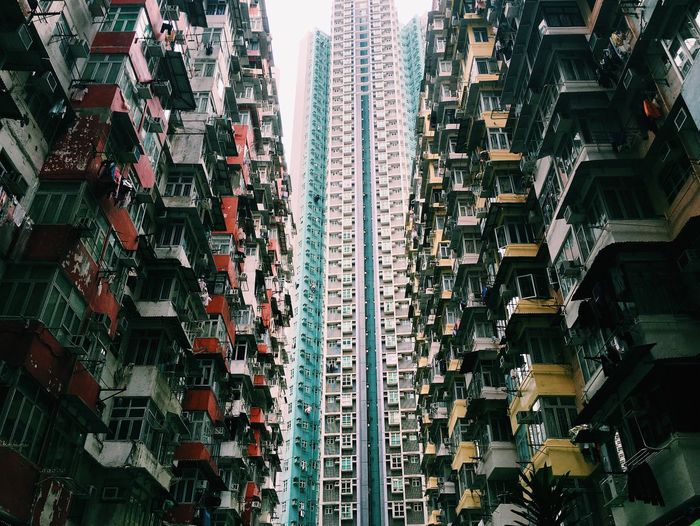 Low Angle View Of Apartment Skyscrapers