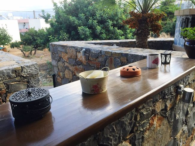 Candles Eye4photography  Pottery Wood - Material Architecture Water Outdoors Growth Container Cup Front Or Back Yard No People Nature Plant Tree Built Structure Table Day Potted Plant Food And Drink Flower Pot Mug