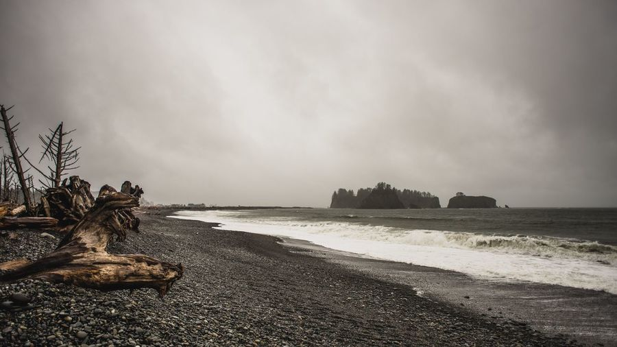 La Push, Washington Sea Sky Nature Beach Water Cloud - Sky Rock - Object No People Scenics Tranquility Day Outdoors Sand Log Wave Storm Washington Washington State Pacific Northwest  Pacific Ocean EyeEmNewHere Rocks Beauty In Nature The Great Outdoors - 2017 EyeEm Awards