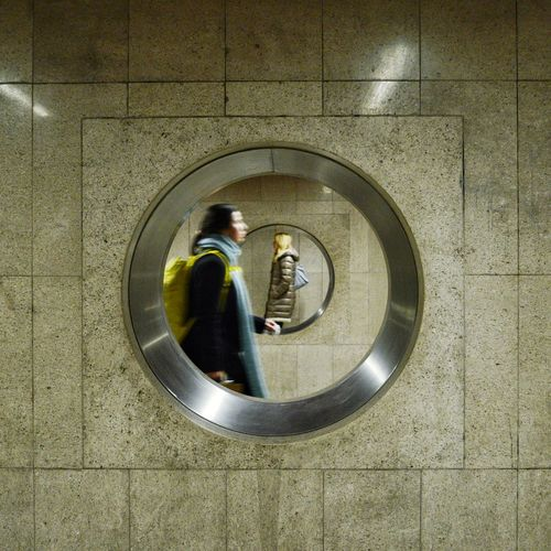 Passing By Streetphotography Street Underground Full Length Architecture Circular Geometric Shape Architectural Design Round Concentric 10 A New Perspective On Life The Art Of Street Photography