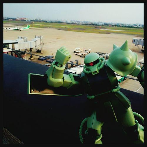 Gunpla Zaku Ii At The Airport Cool GoodMorning⛅