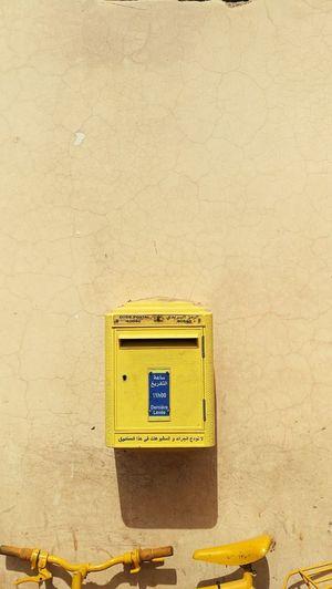 Mailbox Jaune🌻 Yellow Marrakech No People Close-up Day Outdoors