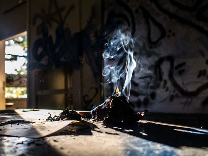 Burnout Creative Light and Shadow Creativity EyeEm Best Shots Burning Burnt Close-up Fire Fire - Natural Phenomenon Flame Heat - Temperature Incense Indoors  Moody No People Smoke - Physical Structure The Creative - 2018 EyeEm Awards