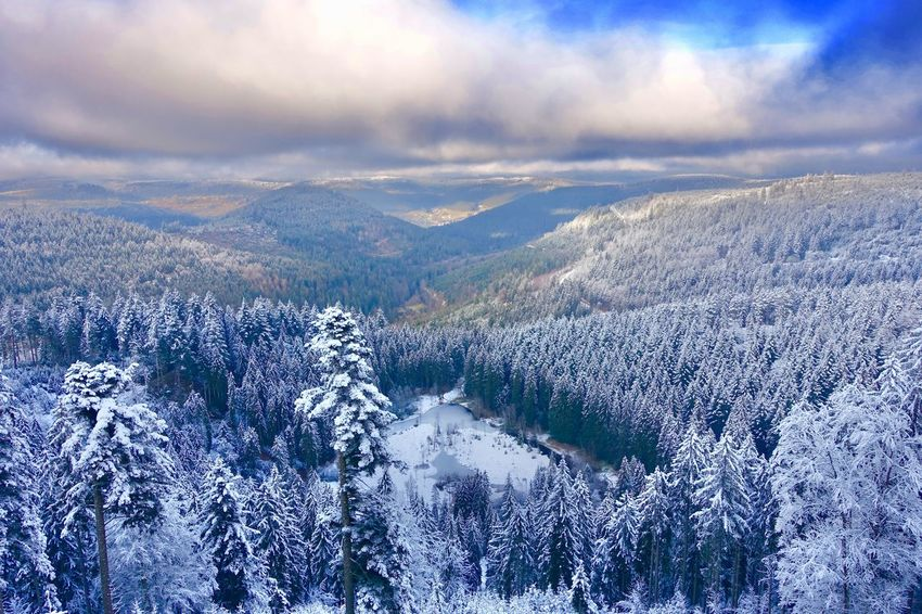 Winter Colors Schwarzwaldhochstrasse Panoramic View Black Forest Germany Schwarzwald Snow Covered Cloud - Sky Sky Nature Environment Beauty In Nature Scenics - Nature Water No People Day Mountain Outdoors Aerial View Cold Temperature Backgrounds Tranquility Snow Landscape Pattern Holiday Moments