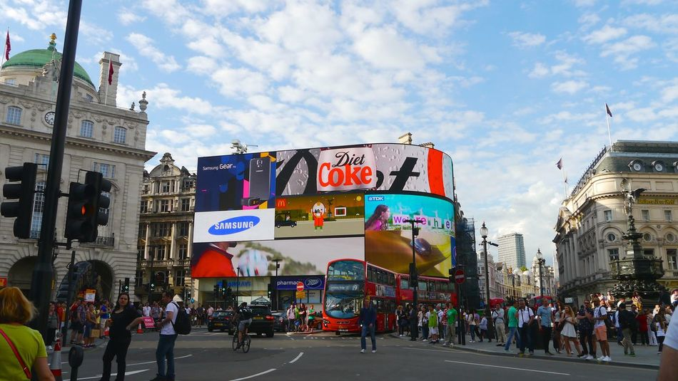 Ads Billboard City Life Cultures Day Piccadilly Circus Traveling Urban