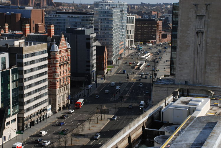 The Strand, Liverpool City Liverpool Liverpool, England Strand City Cityscape Day England High Angle View Merseyside Road Strand Street