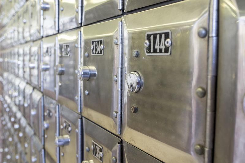 Full frame shot of lockers