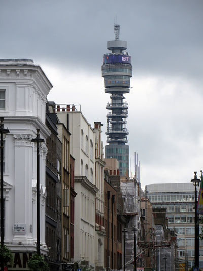 Buildings and bt tower in city